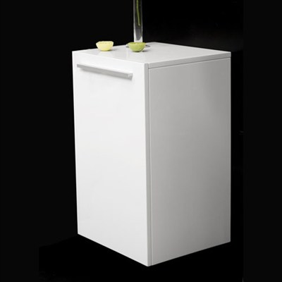 Läs mer om badrumsskåpet, klicka här   Halvskåp Bathlife Evita Förvaring 600 Högblank Vit