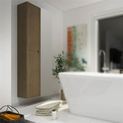 Läs mer om badrumsskåpet, klicka här   Högskåp Hafa Moon Valnöt