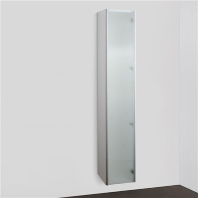 Läs mer om badrumsskåpet, klicka här   Högskåp Svedbergs Bianca med Frostat Glas