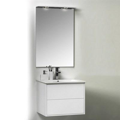 Läs mer om badrumsskåpet, klicka här   Möbelpaket Noro Avanti Vit Högblank