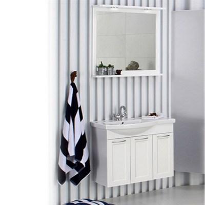 Läs mer om badrumsskåpet, klicka här   Möbelpaket Noro Fix Matt Vit Ramlucka