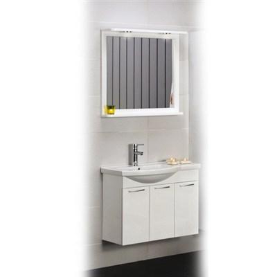 Läs mer om badrumsskåpet, klicka här   Möbelpaket Noro Fix Vit Högblank