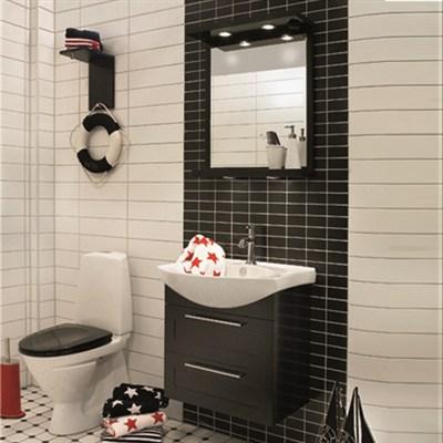 Läs mer om badrumsskåpet, klicka här   Möbelpaket Noro Polo Svart Ramlucka