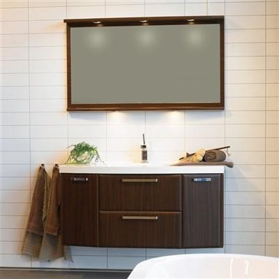 Läs mer om badrumsskåpet, klicka här   Möbelpaket Noro Star Mörk Valnöt
