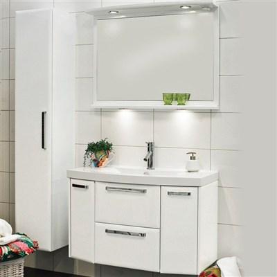 Läs mer om badrumsskåpet, klicka här   Möbelpaket Noro Star Vit Högblank