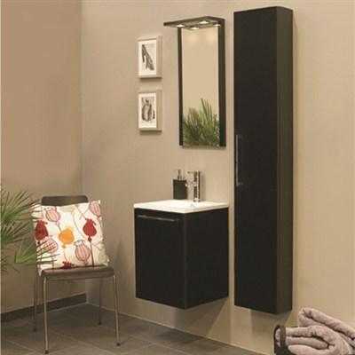 Läs mer om badrumsskåpet, klicka här   Möbelpaket Noro Uno 410 Svart Högblank