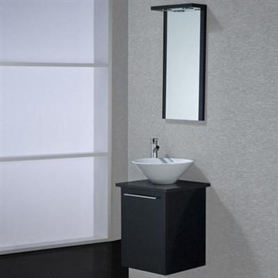 Läs mer om badrumsskåpet, klicka här   Möbelpaket Noro Uno Loop Svart Högblank