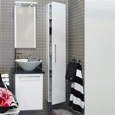 Läs mer om badrumsskåpet, klicka här   Möbelpaket Noro Uno Loop Vit Högblank