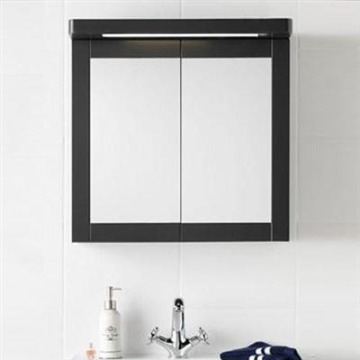 Läs mer om badrumsskåpet, klicka här   Spegelskåp Hafa Hampton Antracitgrå