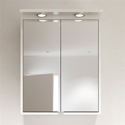 Läs mer om badrumsskåpet, klicka här   Spegelskåp Hafa Moon Vit