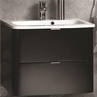 Läs mer om badrumsskåpet, klicka här   Tvättställskåp Noro Sand Matt Svart