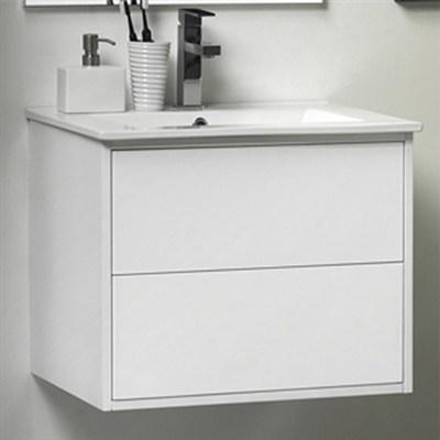 Läs mer om badrumsskåpet, klicka här   Tvättställsskåp Noro Avanti Vit Högblank