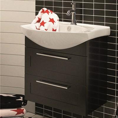 Läs mer om badrumsskåpet, klicka här   Tvättställsskåp Noro Polo Matt Svart Ramlucka