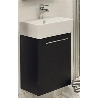 Läs mer om badrumsskåpet, klicka här   Tvättställsskåp Noro Single Svart Högblank