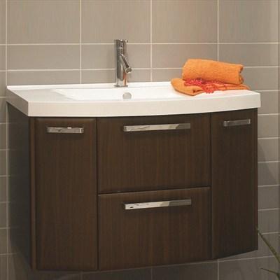 Läs mer om badrumsskåpet, klicka här   Tvättställsskåp Noro Star Mörk Valnöt