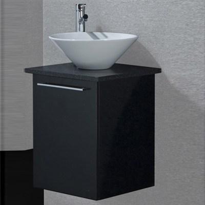 Läs mer om badrumsskåpet, klicka här   Tvättställsskåp Noro Uno Loop Svart Högblank
