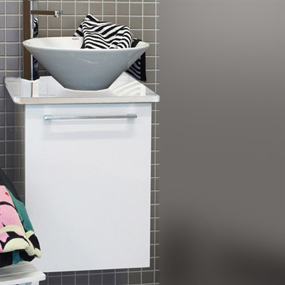 Läs mer om badrumsskåpet, klicka här   Tvättställsskåp Noro Uno Loop Vit